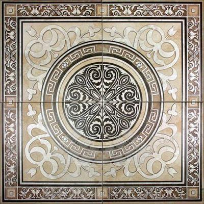 Несложное в исполнении панно из 4-х плиток с нанесенным рисунком