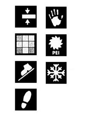 Графические символы на упаковках кафельной плитки