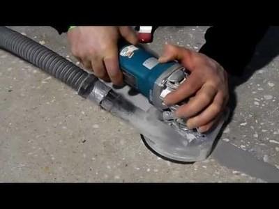 Шлифовка бетона вручную