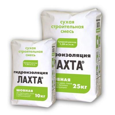 Упаковки штукатурных обмазочных гидроизолирующих смесей