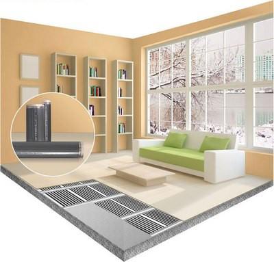 Инфракрасными элементами можно обогреть отдельные участки помещения, создав зоны повышенного комфорта