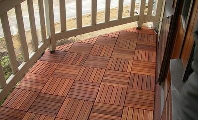 """Отличное решение для открытого или закрытого балкона - """"садовый паркет"""""""