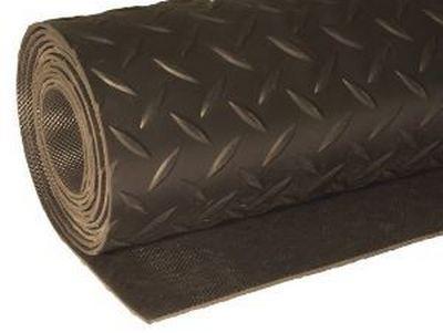 Таким рулонным ПВХ-покрытием можно очень быстро застелить пол в любом техническом или подсобном помещении