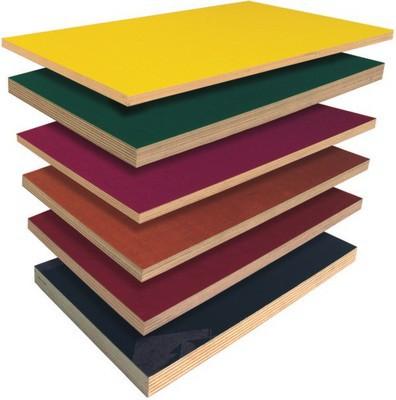 Ламинированная фанера различной толщины и оттенков