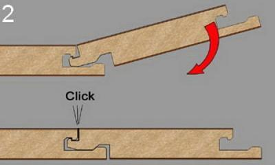 """""""Click"""" - удобное и надежное замковое соединение. При необходимости покрытие легко демонтируется"""