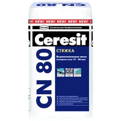 Быстрозастывающая стяжка с фиброволокнами  «Cеrеsit СN 80»