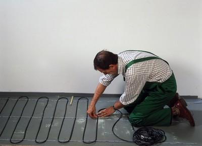 Раскладка обогревающего кабеля