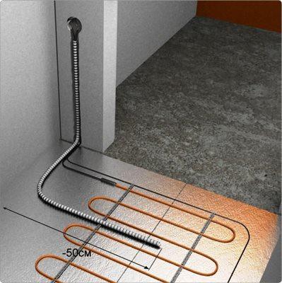Примерная схема установки термодатчика
