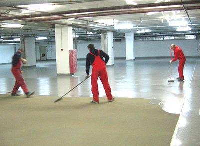 Краску можно наносить прямо на бетонное основание