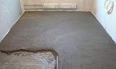 """Обычная """"мокрая"""" бетонная стяжка"""