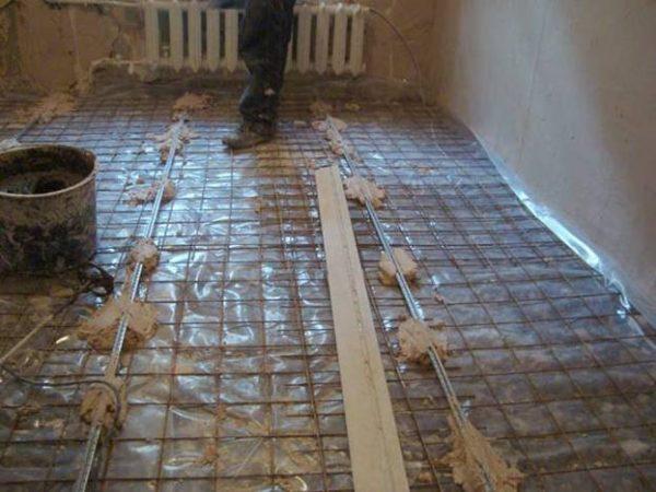 Армирование бетонной стяжки