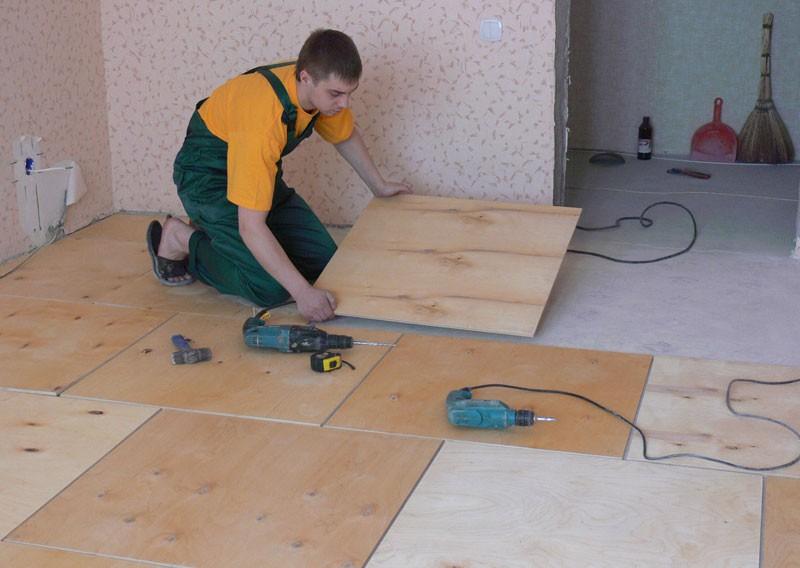 Выравнивание деревянного пола своими руками фото