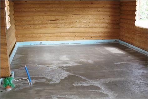 Заливка бетона в бане
