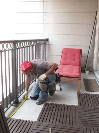 Замеры на балконе