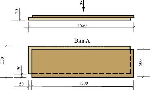 КНАУФ-суперпол представляет собой элемент пола заводского изготовления, склеенный из двух малоформатных влагостойких листов