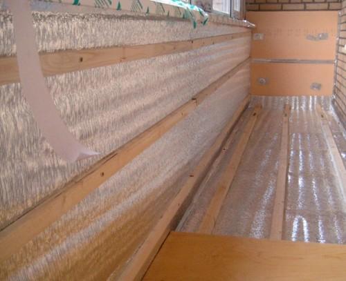 Как утеплить пол на балконе