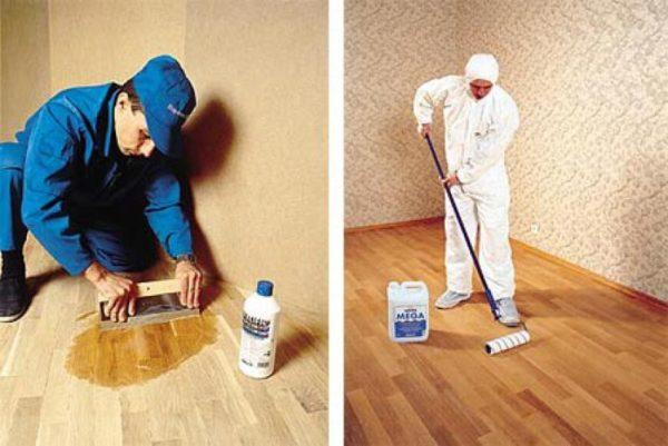 Подготовка и грунтовка поверхности