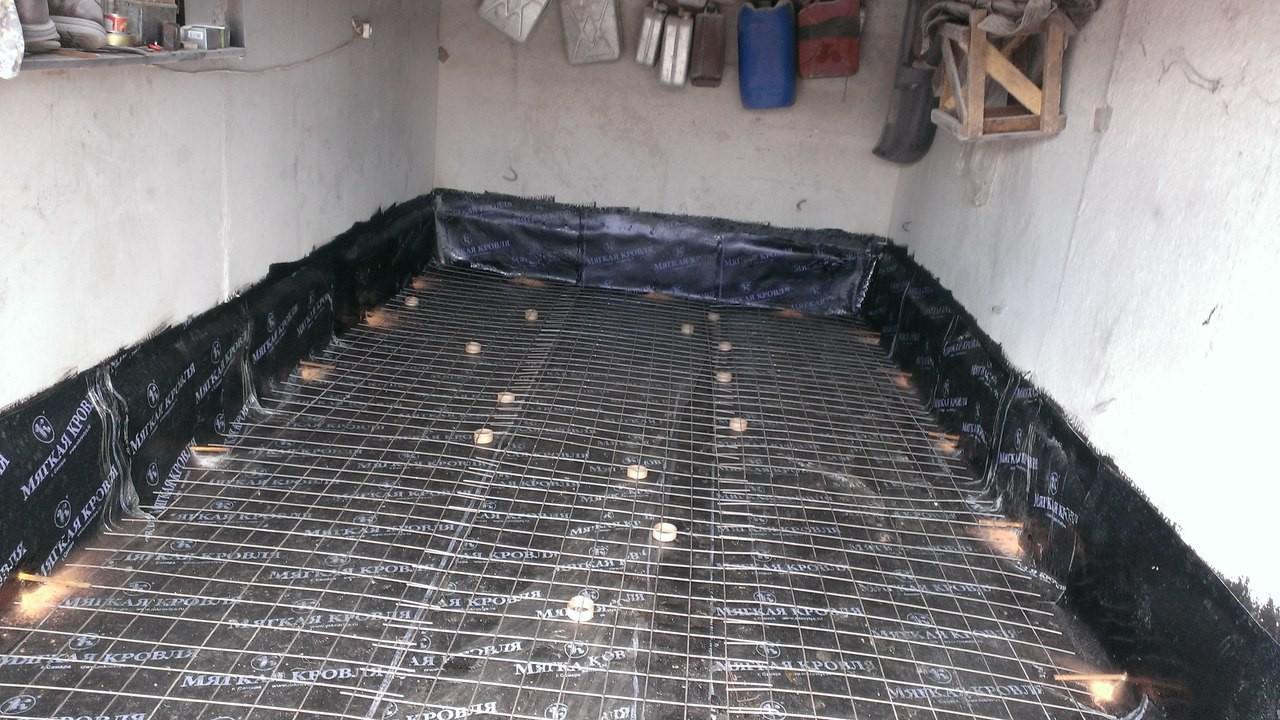 Заливной пол в гараже своими руками 79