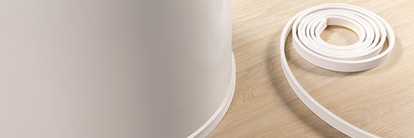 Гибкий плинтус под покраску для напольных покрытий Quick-Step