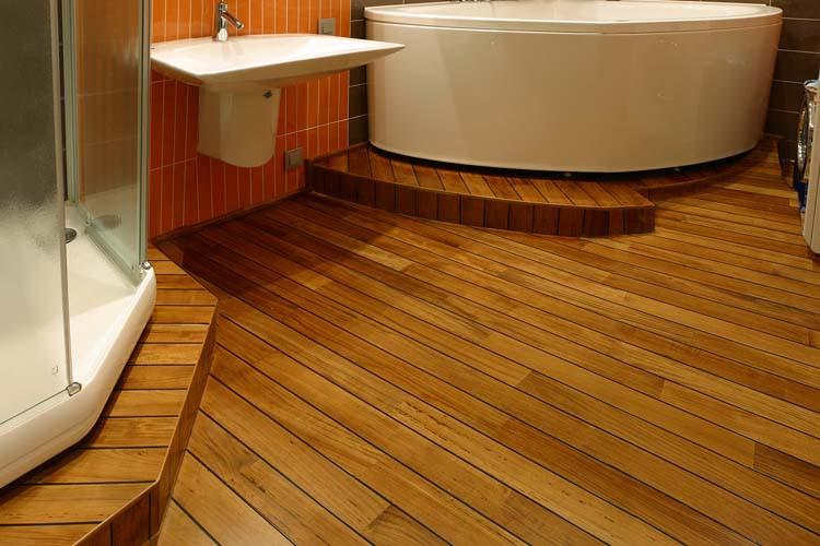 Деревянный пол в ванной комнате своими руками в деревянном доме 18