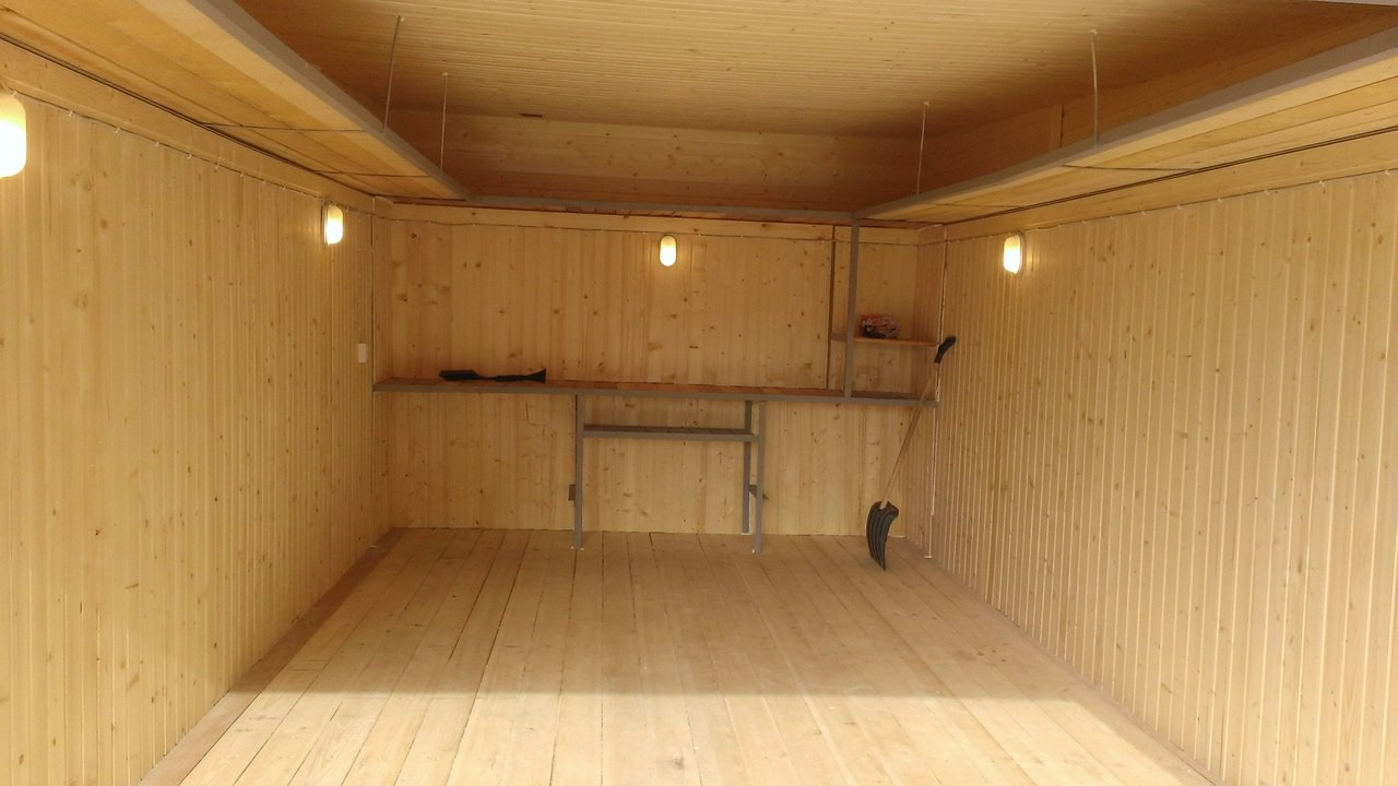 Деревянный пол в гараже видео