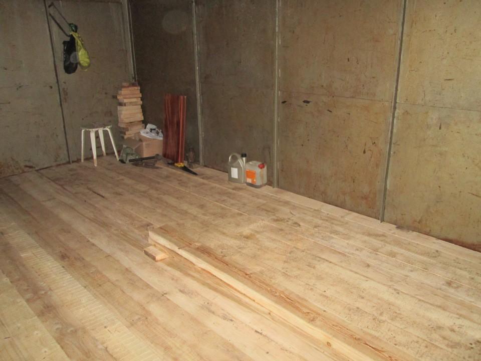 Деревянный пол в гараже своими руками