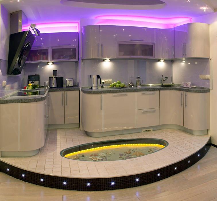 Кухня дизайн пола