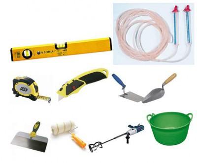 Инструменты, необходимые для обустройства стяжки