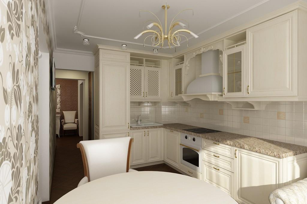 Кухни современная классика дизайн 9 квм
