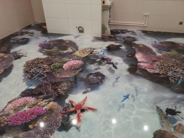 Наливные полы 3d фото