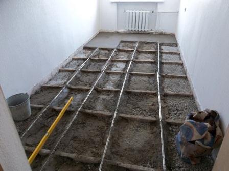 Пример использования карт для заливки бетона