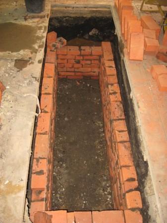 Процесс кладки стен