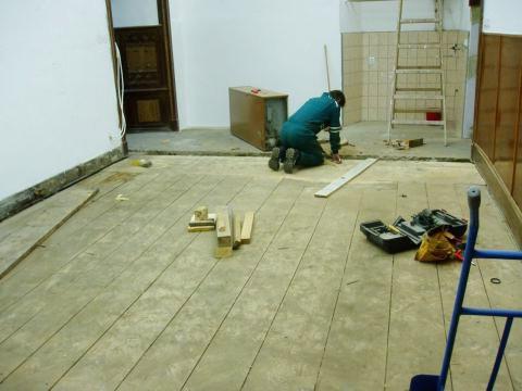 Ремонт деревянного пола. Укрепление половиц