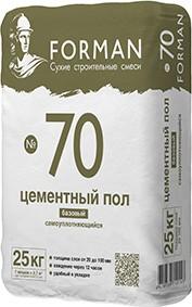 Ровнитель на цементной основе самоуплотняющийся FORMAN №70, 25 кг