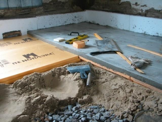 Как утеплить бетонный пол в доме своими руками 51