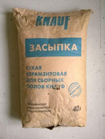 Сухая керамзитовая засыпка Кнауф