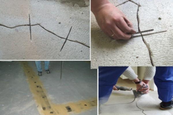 Трещины и дефекты бетонной основы необходимо тщательно заделать