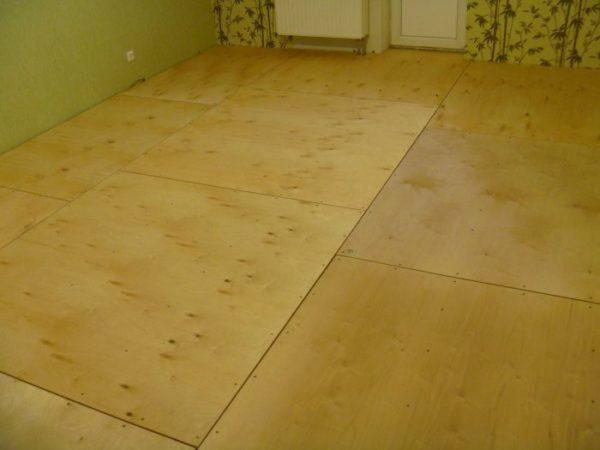 Укладка фанеры на бетонный пол