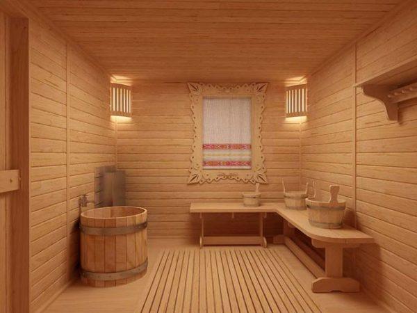 Чем покрыть пол в бане