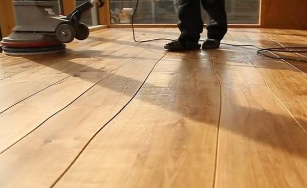 Шлифовка деревянного пола
