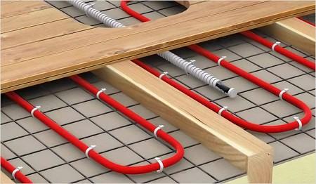 Электрический теплый пол. Схема