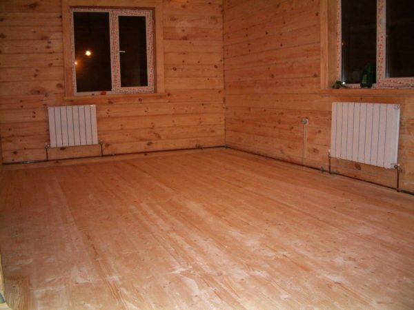 Особенно часто пол на лагах устраивается в деревянных домах и срубах, в которых перекрытия между этажами выполнены из балок