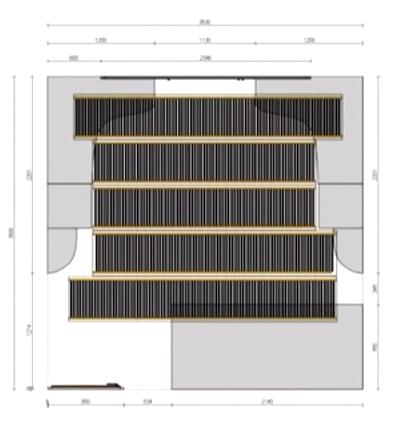 Схема монтажа в помещении (с учетом меблировки)