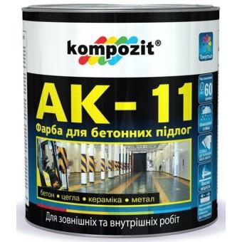 Композит (Kompozit) АК-11 - акриловая краска для бетонных полов на органической основе Композит (Kompozit - Украина)