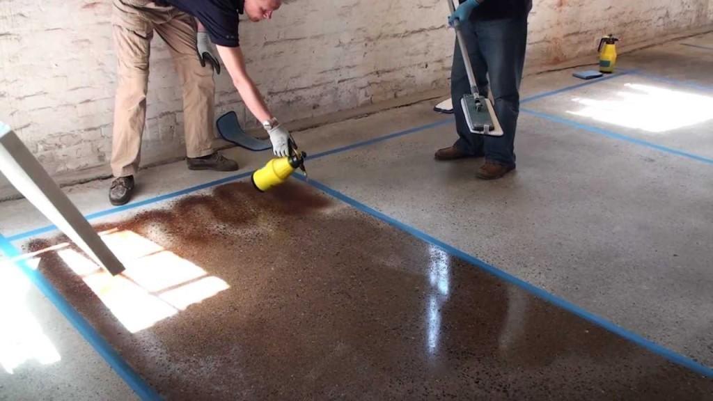Как самому сделать бетонный пол в одно