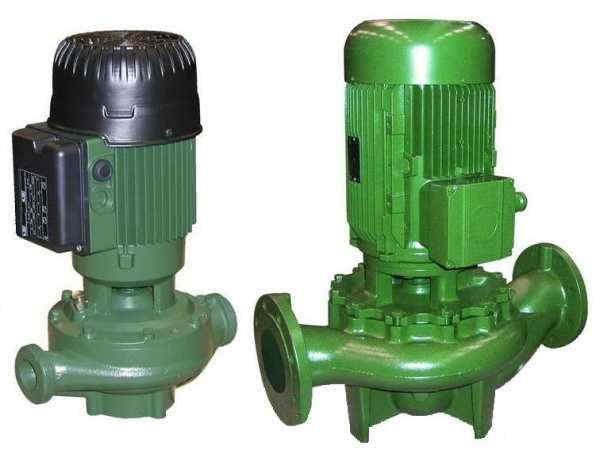 Насосы с сухим ротором имеют повышенные мощности и соответсвующие габариты
