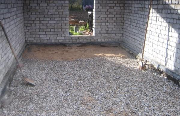 Песчано-гравийная подушка