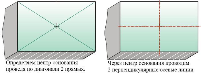 Разметка пола под укладку керамогранита