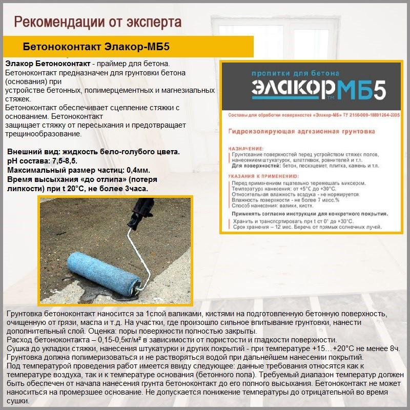Бетоноконтакт Элакор-МБ5