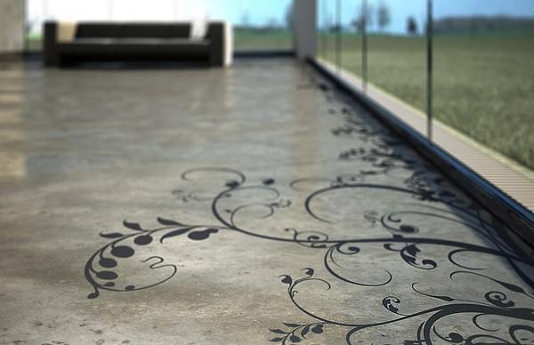 На фото бетонные полы с упрочнителем